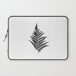 Fern silhouette. Isolated on white background Laptop Sleeve