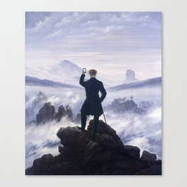 When you see the amazing sight Canvas Print