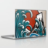 comic Laptop & iPad Skins featuring Hokusai comic by Nxolab