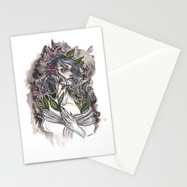 Nightshade Inktober Ink and Watercolor Illustration Stationery Cards