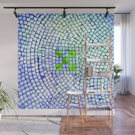 artisan 22.06.16 in lime & shades of blue Wall Mural