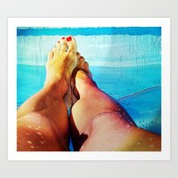 feet Art Prints featuring Feet by Carol Mota