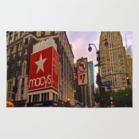manhattan Area & Throw Rugs featuring Manhattan by Jaime Viens