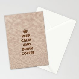 Keep Calm and Drink Coffee Typography Stationery Cards