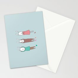 Three Wise Bunnes Stationery Cards