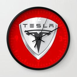 Tesla Motors Wall Clock