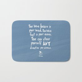 dr seuss you have brains in your head Bath Mat