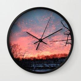 SHERBET SKY Wall Clock