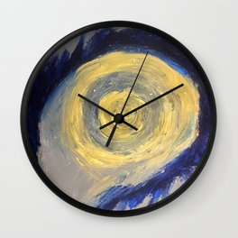 Eye of the vortex Wall Clock