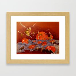 Surreal Hornets Framed Art Print