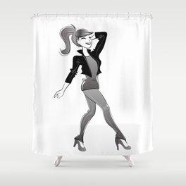 fashion girl illustration Shower Curtain