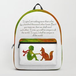 Little Prince Quote Backpack