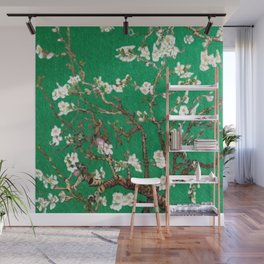 Vincent van Gogh Blossoming Almond Tree (Almond Blossoms) Emerald Sky Wall Mural