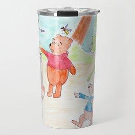 Poo Bear Robbing Honey Travel Mug