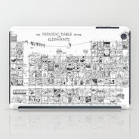periodic table iPad Cases featuring Periodic Table of the Elephants by DS Art
