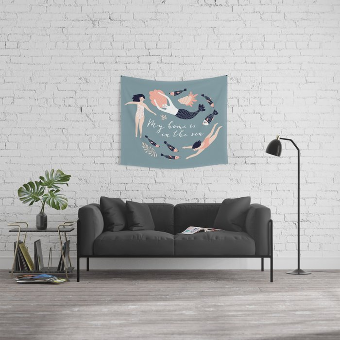 My home is in the sea Wall Tapestry