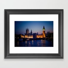 London by night Framed Art Print