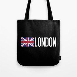 Britain: British Flag & London Tote Bag
