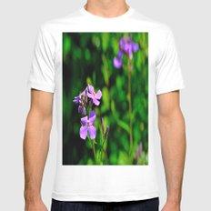 Springing Purple White MEDIUM Mens Fitted Tee