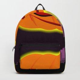 Evil Pumpkin Over The City Backpack
