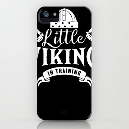 Little Viking in training iPhone Case
