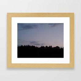 Sunset in New England Framed Art Print