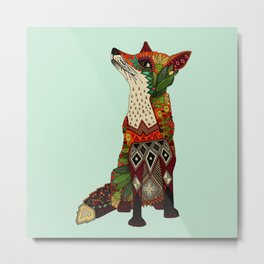 fox love mint Metal Print