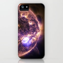 Sun with Solar Flares iPhone Case