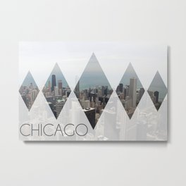 Chicago Diamonds Metal Print