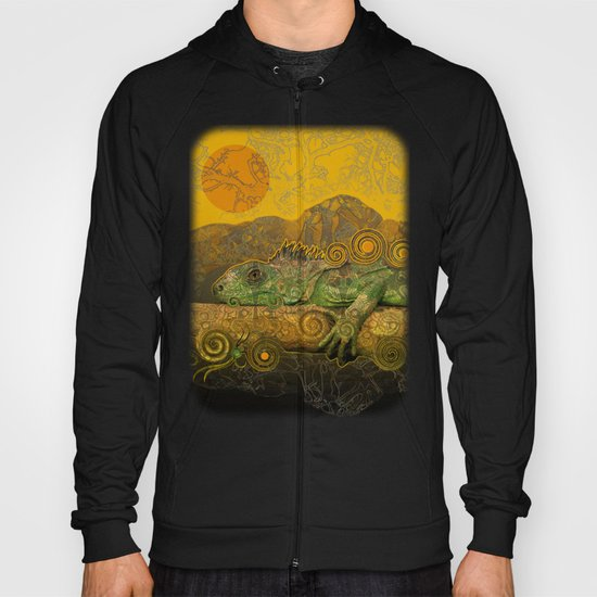 Just Chilling and Dreaming...(Lizard) Hoody