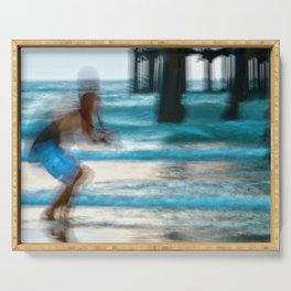 Abstract Pier Creeper Serving Tray