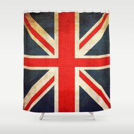 Vintage Union Jack British Flag Shower Curtain