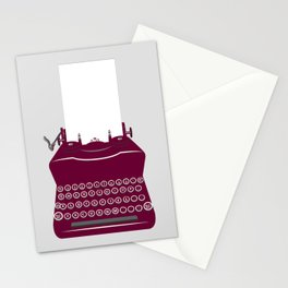 The Lonely Typewriter {dark plum} Stationery Cards