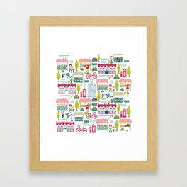 4th Saturday of the Month - Brigg Farmers Market Framed Art Print
