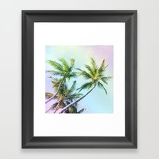 Relaxing Rainbow Color Palms Framed Art Print