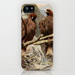 Kuhnert, Friedrich Wilhelm (1865-1926) - Wild Life of the World 1916 v.1 (Golden Eagle) iPhone Case