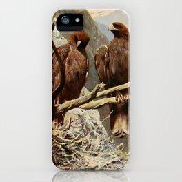Kuhnert, Friedrich Wilhelm (1865-1926) - Wild Life of the World 1916 v.1 (Golden Eagle) iPhone Case