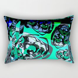 Green Andean Bear Rectangular Pillow