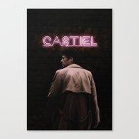 castiel Canvas Prints featuring CASTIEL by mycolour