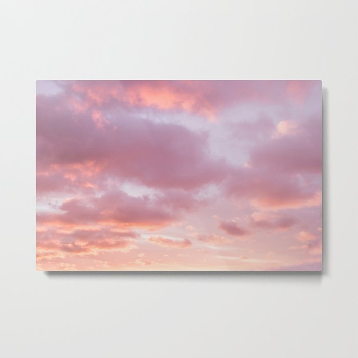 Unicorn Sunset Peach Skyscape Photography Metal Print