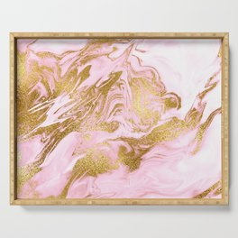 Rose Gold Mermaid Marble Serving Tray