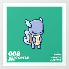 008 Wartortle Art Print