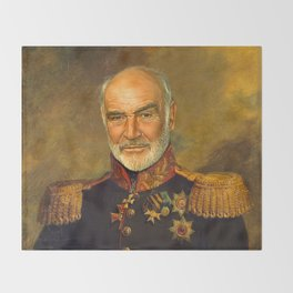 Sir Sean Connery - replaceface Throw Blanket