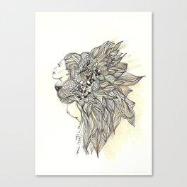 animalia lion Canvas Print