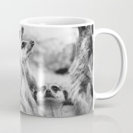 Black and White Meerkats Coffee Mug