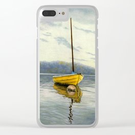 The Little Yellow Sailboat Clear iPhone Case