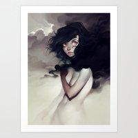 loish Art Prints featuring Dark Clouds by loish