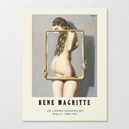 Poster-Rene Magritte-Les liasons dangereuses. Canvas Print