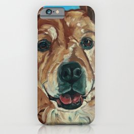 Cody the Golden Labrador Mix Dog Portrait iPhone Case