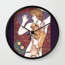 Gold Tiger Wall Clock